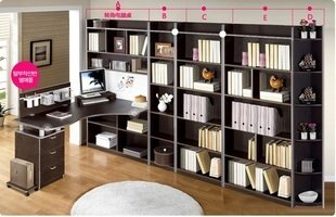 National free shipping corner computer desk computer desk desk bookcase bookcase combination of desktop computer desk