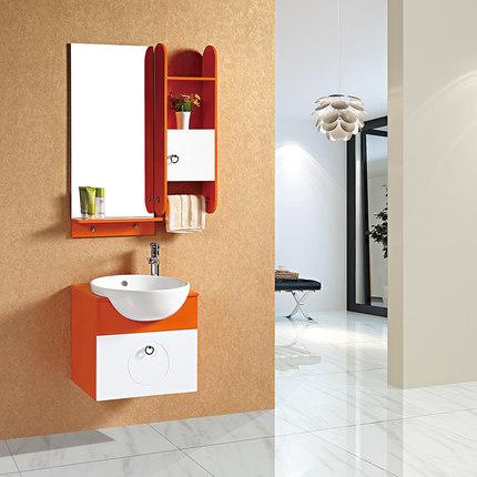 The new group of manufacturers PVC bathroom cabinet bathroom cabinet modern minimalist bathroom vanity washbasin cabinet portfolio shipping