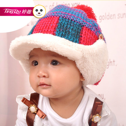 Ting interesting new Korean cute baby hats for men and women warm winter  plus velvet ear de7fb57fb