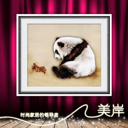 US Coast diamond embroidery stitch 5D circle diamond paste diamond drill newest painting the living room DIY panda diamond show