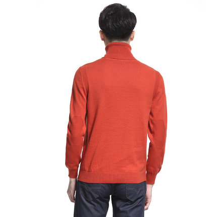 Arne Blue Extension Fashion Week catwalk models big net to take the necessary color sweater with high collar sweater knit sweater men inside